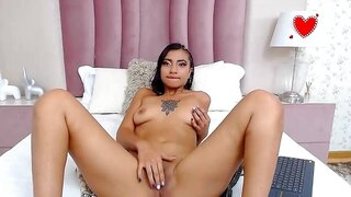 ElizabethMay – Perfect Latina Stimulates Her Pussy With Fingers and Dildo