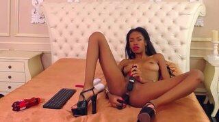 AnnaHatcher – Ebony Says Yes To Double Penetration