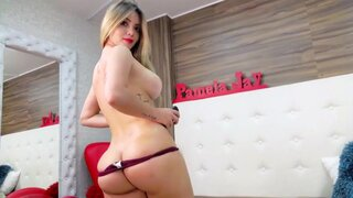 PamelaJay – Big tits sexbomb PamelaJay pleasing her beautiful pussy
